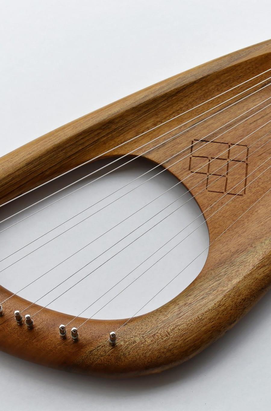 11 string Hirajoshi Lyre, Amazouke (Ovangkol) wood