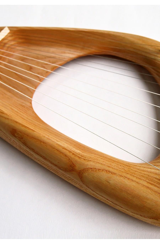 12 String Diatonic Lyre, Ash Wood