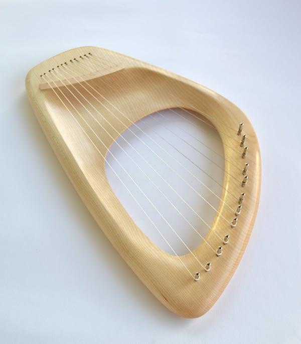 12 string Pentatonic Lyre, Maple