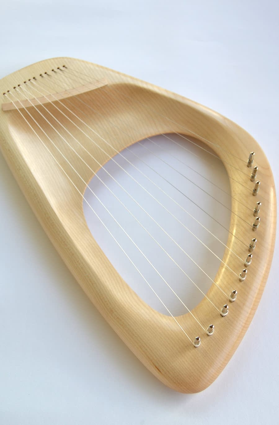 12 String Pentatonic Lyre, Maple Wood Musical Instrument