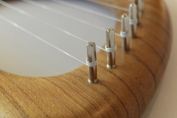 Walnut Lyre Harp 08